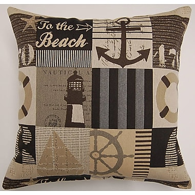 Creative Home Harbortown Cadet Throw Pillow; Mocha
