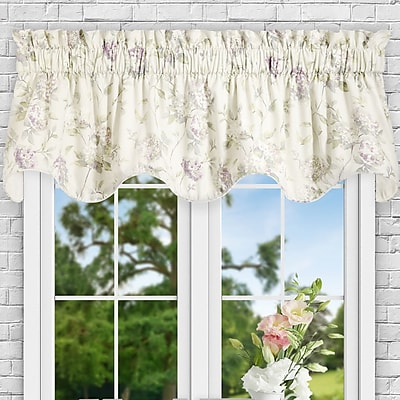 Ellis Curtain Kyra Hydrangea Lined 70'' Curtain Valance; Lilac