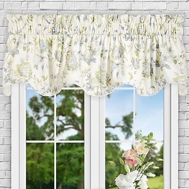 Ellis Curtain Kyra Hydrangea Lined 70'' Curtain Valance; Porcelain