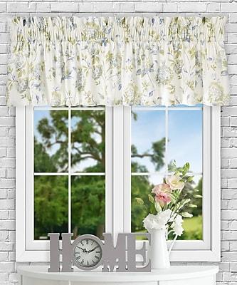 Ellis Curtain Kyra Hydrangea 80'' Curtain Valance; Porcelain