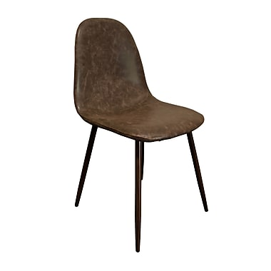 BestMasterFurniture Side Chair (Set of 4); Brown