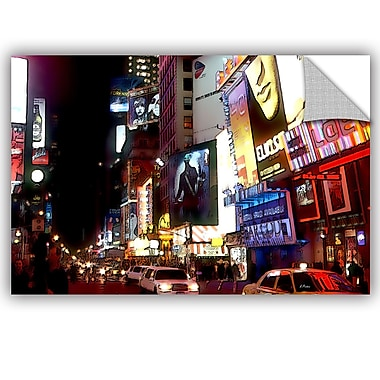 ArtWall ArtApeelz Nyc Bright Lights Broadway by Linda Parker Photographic Print on Canvas