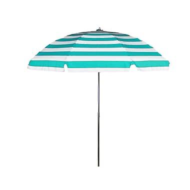 Frankford Umbrellas 7.5' Drape Umbrella; Turquoise and White Stripe