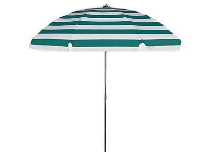 Frankford Umbrellas 7.5' Drape Umbrella; Teal and White Stripe