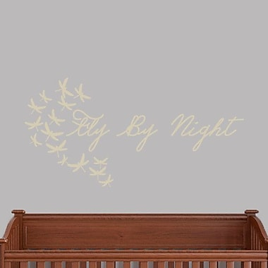SweetumsWallDecals Fly by Night Wall Decal; Beige
