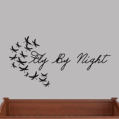 SweetumsWallDecals Fly by Night Wall Decal; Black