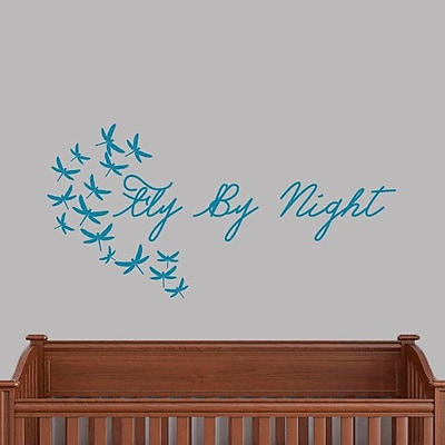 SweetumsWallDecals Fly by Night Wall Decal; Teal