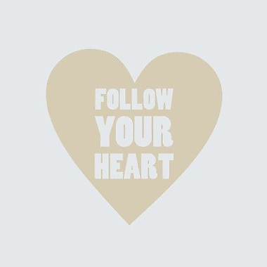 SweetumsWallDecals Follow Your Heart Wall Decal; Beige