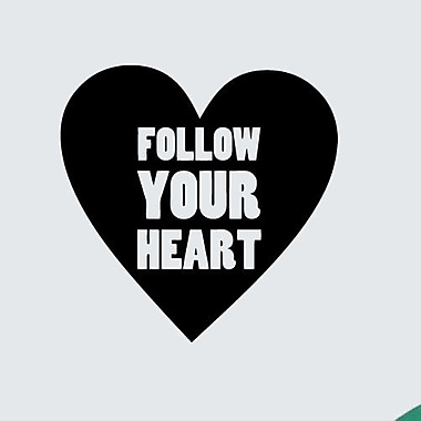 SweetumsWallDecals Follow Your Heart Wall Decal; Black