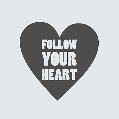 SweetumsWallDecals Follow Your Heart Wall Decal; DarkGray