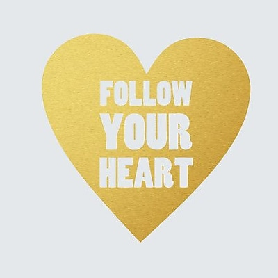SweetumsWallDecals Follow Your Heart Wall Decal; Gold