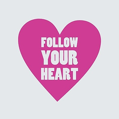 SweetumsWallDecals Follow Your Heart Wall Decal; HotPink