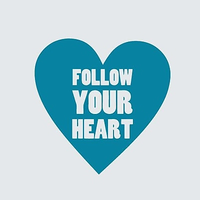 SweetumsWallDecals Follow Your Heart Wall Decal; Teal