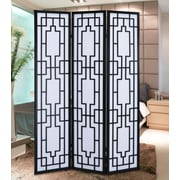 Roundhill Furniture 70.31'' x 52'' Sudoku Screen 3 Panel Room Divider