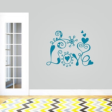 SweetumsWallDecals Funky Love Wall Decal; Teal