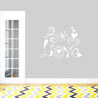 SweetumsWallDecals Funky Love Wall Decal; White