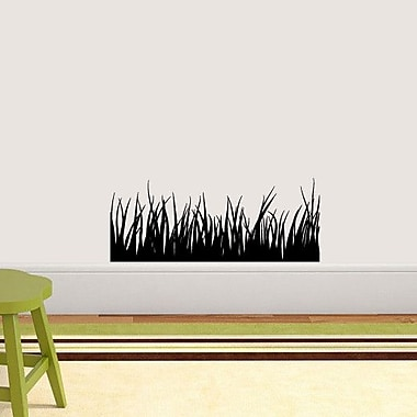 SweetumsWallDecals Grass Wall Decal; Black