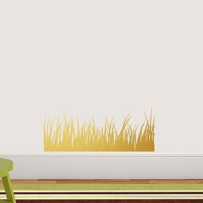 SweetumsWallDecals Grass Wall Decal; Gold