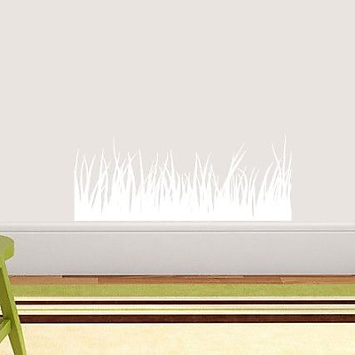 SweetumsWallDecals Grass Wall Decal; White