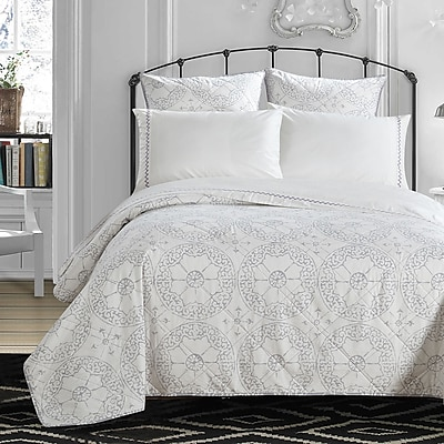 LUX-BED Grand Palace Embroidered 300 Thread Count 100pct Cotton Sheet Set; Twin/Twin XL