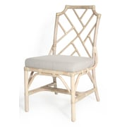 Kenian New Classics Chippendale Side Chair; Linen