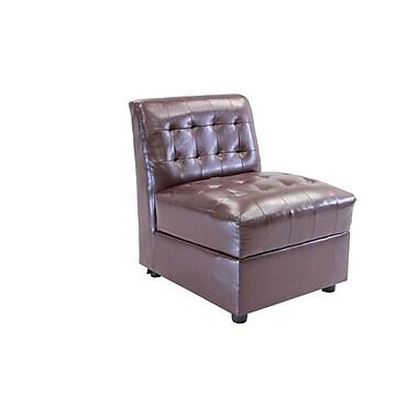 Best Quality Furniture Storage Club Chair; Brown