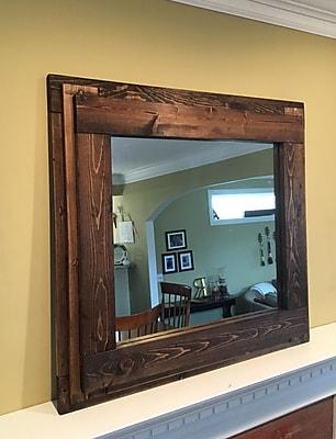 BrandtWorksLLC Farmhouse Mantelpiece Wall Mirror; Dark Walnut