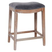 Joseph Allen Catherine Bar Stool w/ Cushion; Charcoal Grey