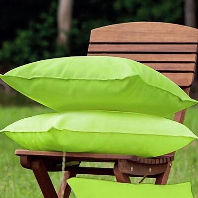 LaKasaLLC Indoor/Outdoor Throw Pillow (Set of 2); Green