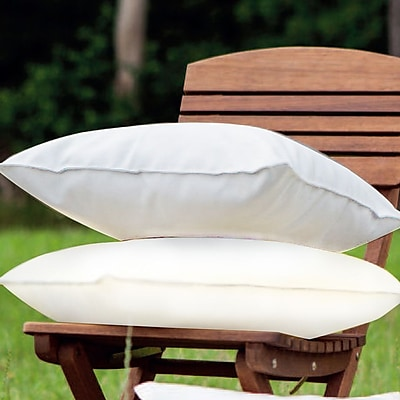 LaKasaLLC Indoor/Outdoor Throw Pillow (Set of 2); Cream
