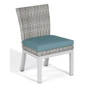 Oxford Garden Travira Dining Side Chair w/ Cushion (Set of 2); Ice Blue