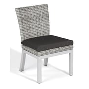 Oxford Garden Travira Dining Side Chair w/ Cushion (Set of 2); Jet Black