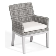 Oxford Garden Travira Dining Armchair w/ Cushion (Set of 2); Eggshell White