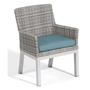 Oxford Garden Travira Dining Armchair w/ Cushion (Set of 2); Ice Blue