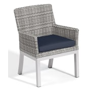 Oxford Garden Travira Dining Armchair w/ Cushion (Set of 2); Midnight Blue