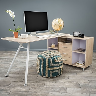 Home Loft Concepts Delta L-Shape Computer Desk