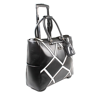Karla Hanson® 50409 Professional & Travel Women's Mobile Trolley Bag, Geometric Black