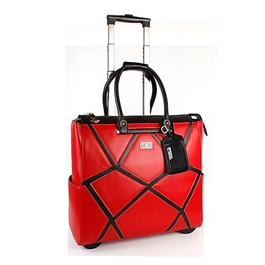Karla Hanson - Sac à roulettes Professional & Travel pour femmes, 50409, motif géométrique rouge