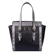 Karla Hanson® 60122 Women's Satchel Bag, Black Grey