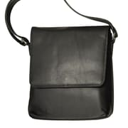 Karla Hanson® 28041 Professional Women's Prestige Leather Messenger Bag, Black