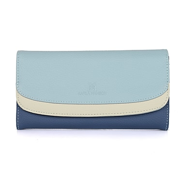 Karla Hanson® 71601 Women's Envelope Wallet, 3 Tone Blue