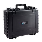 B&W Type 6000 Black Polypropylene Outdoor Shipping Case with Egg Crate Foam Lid (6000/B/RPD)