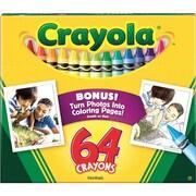crayola 64 Count Crayon Set with Built-In Sharpener, Assorted (52-0064)