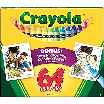 crayola 64 Count Crayon Set with Built-In Sharpener, Assorted (52-0064)