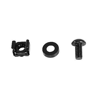 CyberPower® Carbon™ M6 Mounting Cage Nut and Screw Kit, 50/Pack (CRA60001)