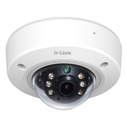 D-Link® DCS-6212L Wired Full HD Outdoor PoE Mini Dome Camera, Black/White