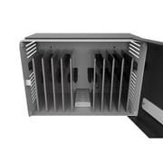 Maclocks ChargeBox Counter-Top or Wall Mounted Secure Charging Locker, Black, USB Type-A (CHRGBOX10B)