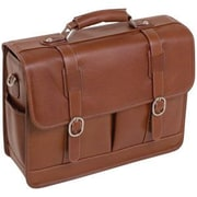 "McKlein USA® 15444 S Series Beverly Leather Briefcase for 15.4"" Laptop, Brown"