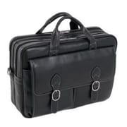 "McKlein USA® 15565 S Series Kenwood Leather Double Compartment Briefcase for 15.6"" Laptop, Black"