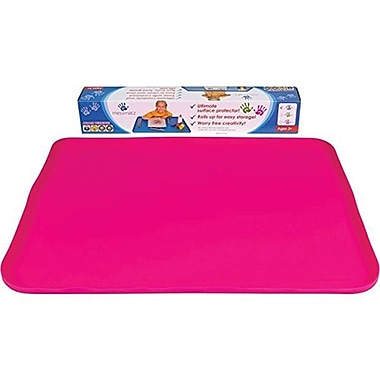 PlaSmart Messmatz Creativity Rectangle Desk Mat, Pink (MM0P)